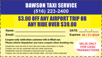 Taxi Coupon for Long Island Airport Transportation